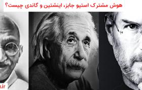 هوش مشترک اینشتین، استیو جابز و گاندی،هوش معنوی